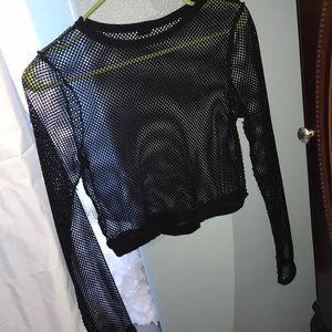 Tops - fishnet long sleeve